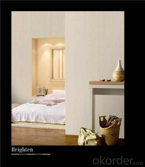 Fabric Backed Wallcovering Decorative Bedroom Soundproof Vinyl Wallcovering