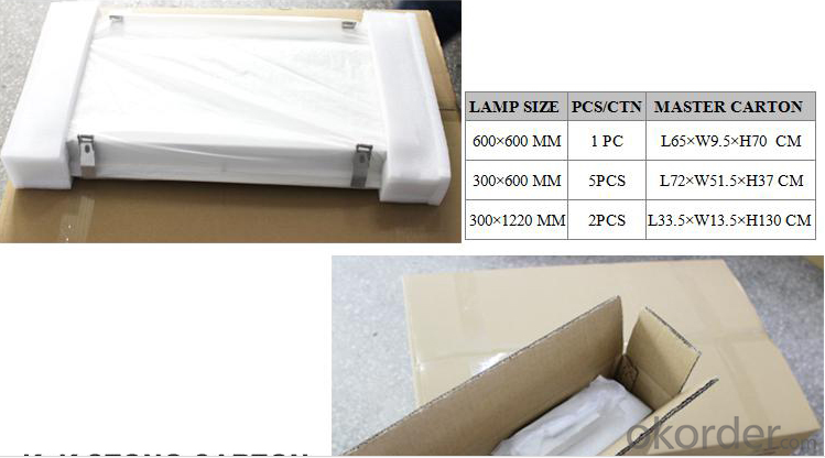 95lm/w High Lumen LED Ceiling Panels Light 600x600 10mm (3 years warranty) CE, RoHS,ULapproved