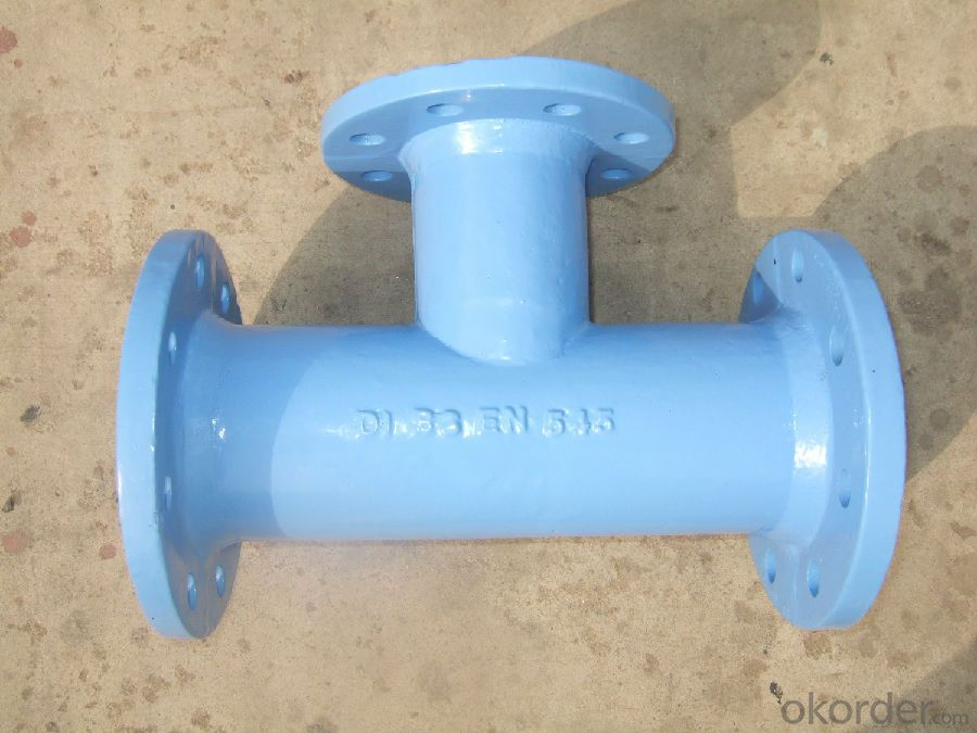 Ductile Iron Pipe Fittings All Flanged Tee EN545 Made In China DN1600