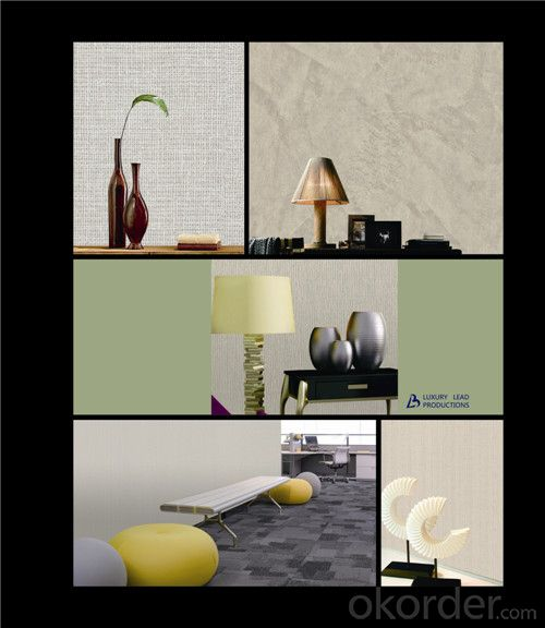 Fabric Backed Wallcovering Household Interior Wallpaper PVC Material Vinyl Wallcovering