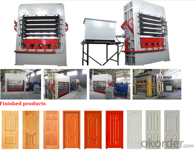 Melamine Door Skin Press Machine / Four-layer Door Surface Veneering Machine
