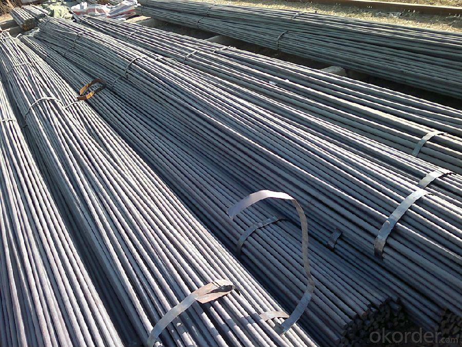 Low Carbon Hot Rolled Steel Round Bar in Bundle