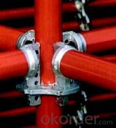 48.3mm Red Painted Building Cuplock Scaffolding