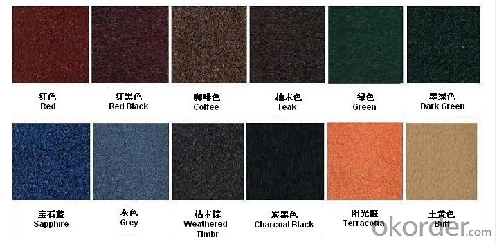 Vermiculite Steel Roofing Tile with Colorful Stone