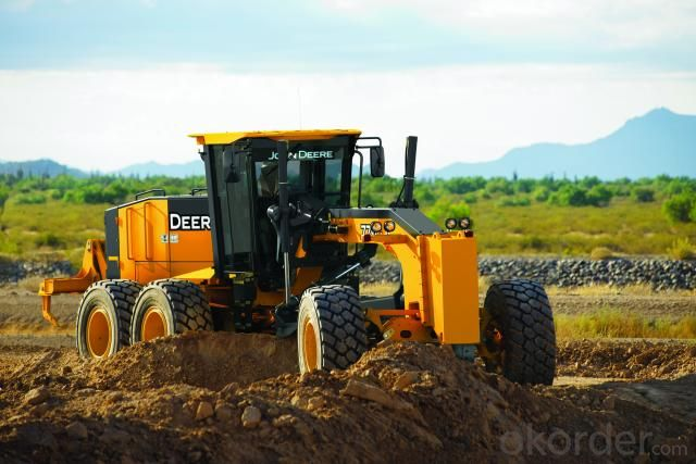 Motor Grader Py220c  with Front Blade and Rear Ripper