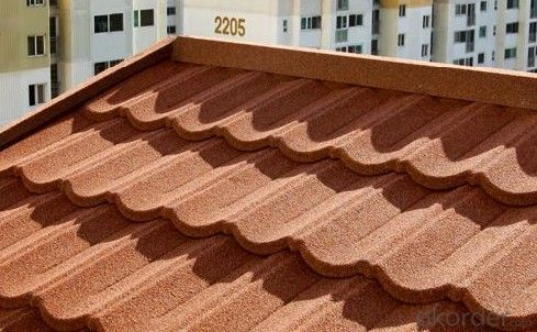 Colorful Sand Roof Tile with Steel Insert