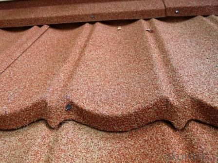 Colorful Vermiculite Metal Roofing Tile with Stone Coated