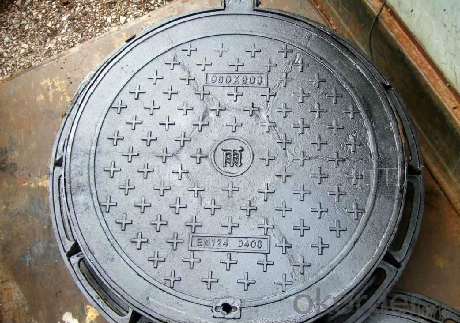 Ductile Iron Manhole Covers EN124 Round for Sale
