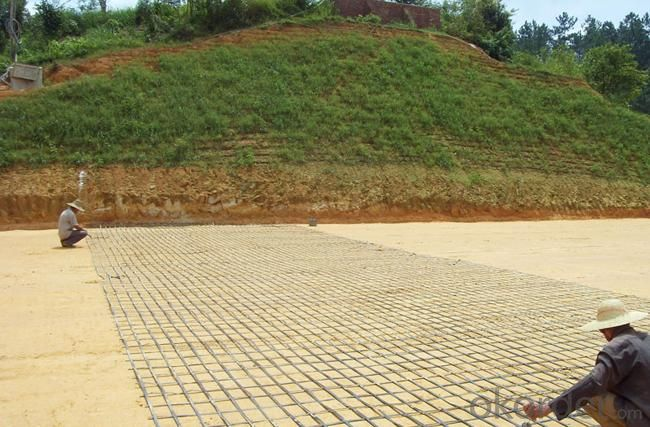 Warp Knitted Polyester Geogrid with CE certificate for Road construction