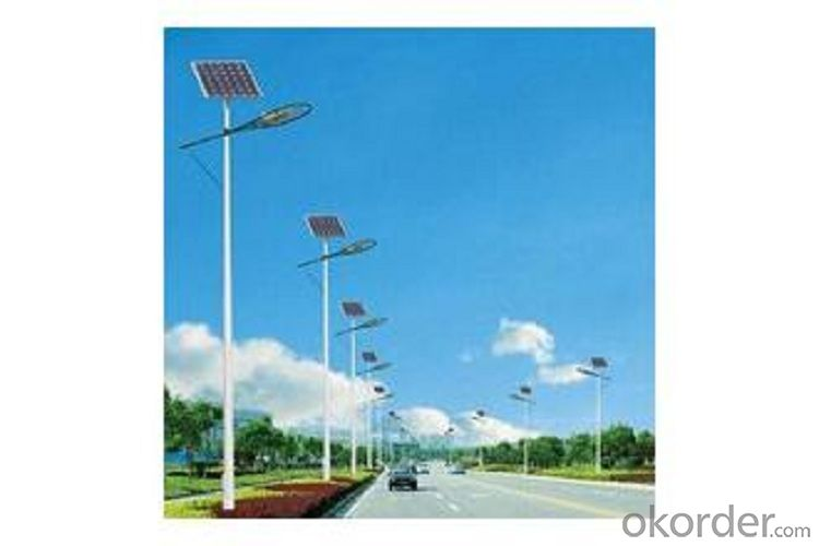 Solar panel LED street light alloy lamp body material easy installation