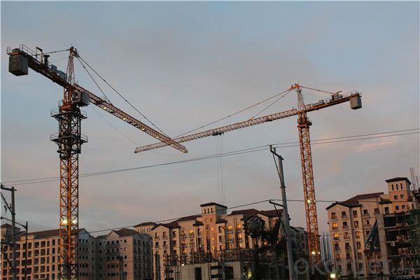 China supplier flat top jib tower cranes for sale