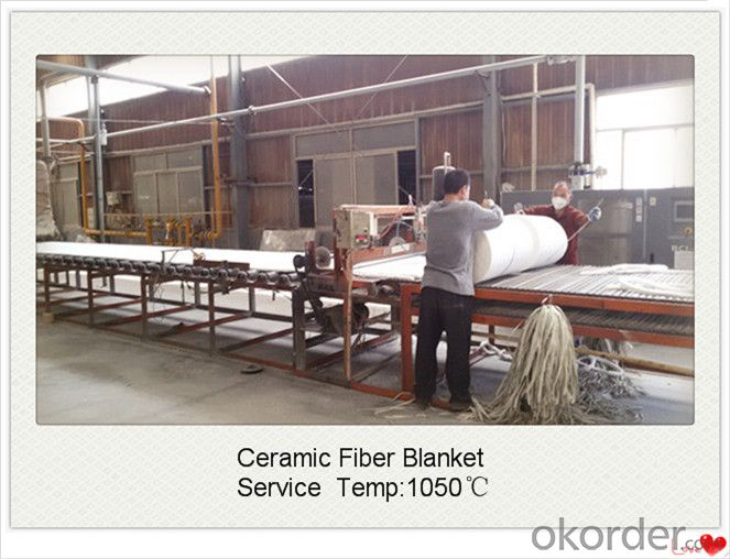 Ceramic Fiber Blanket with 6mmx1220mmx7620mm 160kg/M3 for Coke Oven Door Made In China