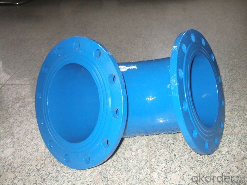 Ductile Iron Pipe Fittings Double Socket 45°Bend Bitumen Coating