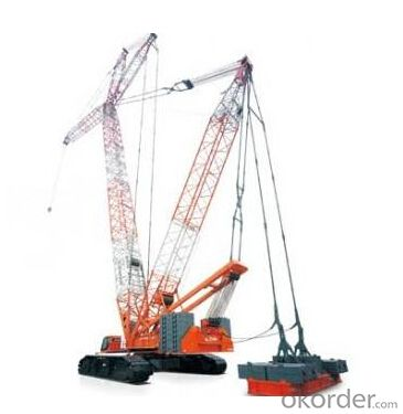 Electric Crawler Crane 50 Ton Mobile Cranes Hydraulic Truck Crane Model QUY50