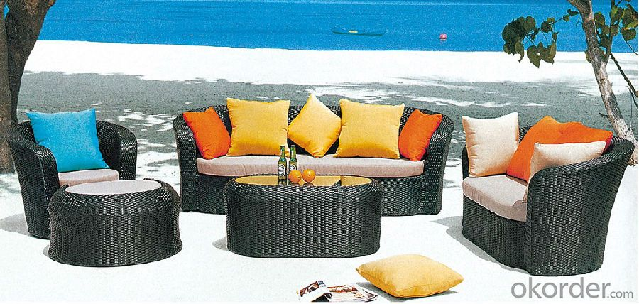 Outdoor Wicker Sofa Set 4 Piece Palm Harbor