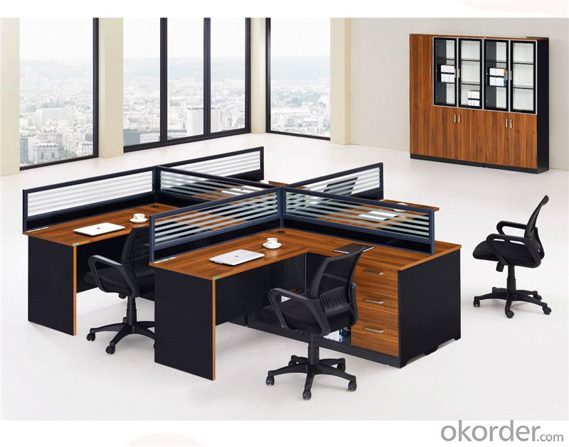 Office Workstation Furniture for Staff of Four Seaters