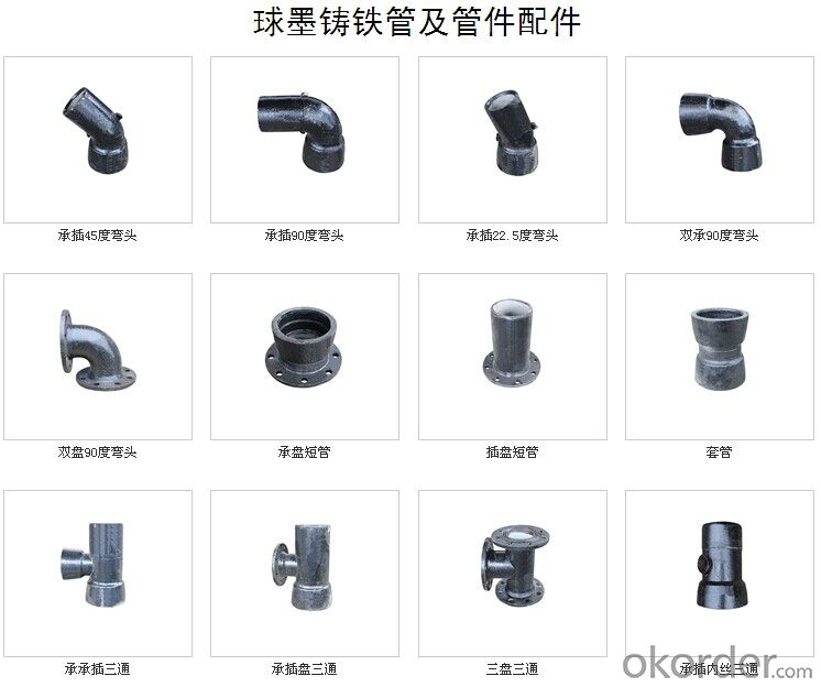 Ductile Iron Pipe Fittings All Flanged Tee DN100-2000 for Water Supply