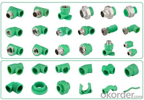 PPR All Plastic Fittings Pipe Plastic Material PPR Reduced Tee T20*20*16