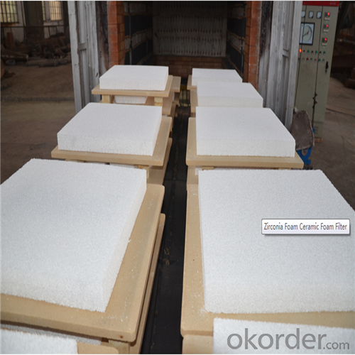 Zirconia Ceramic Foam Filter for Foundry Industry