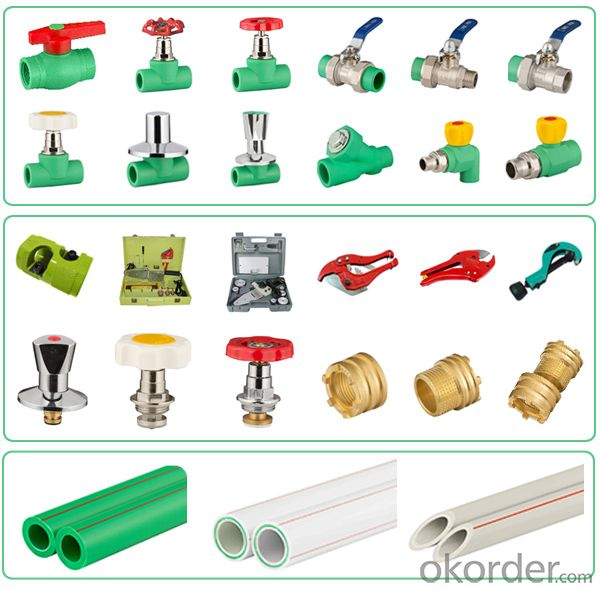 PPR All Plastic Fittings Pipe Plastic Material PPR Reduced Tee