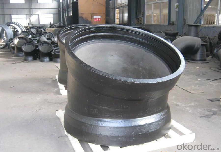 Ductile Iron Pipe Fittings All Flanged Tee DN500&400-12 Cold Applied Bitumen