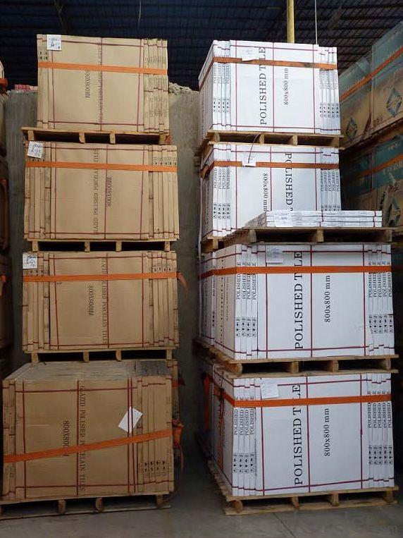 Polished Porcelain Tile Double Loading Platinum Serie Pink Color 6801