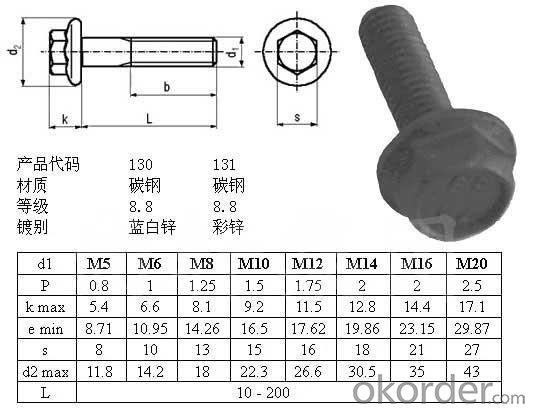 Bolt DIN933 M8*80 Made in China with Good Quality