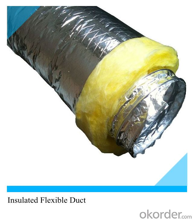 Round Plain Double Aluminum Layer Aluminum Flexible Bare Duct Good Quality