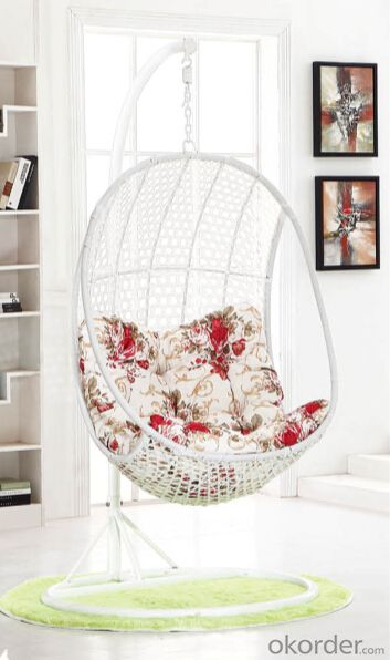 Rattan Swing Chair Bentley Garden Grey/White