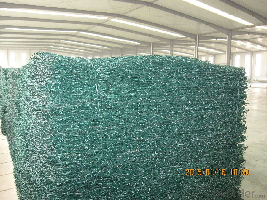 PVC Coated Hot dipped  Gabions net  Good Quality for Highway