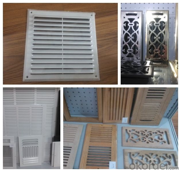 Air vent grille Egg Crate Wooden Floor Grille