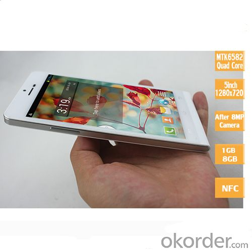 "IPS Mtk6582 Quad Core 8.0MP 5"" Smartphone Dual SIM"