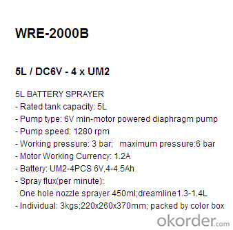 Battery Sprayer   WRE-20-B