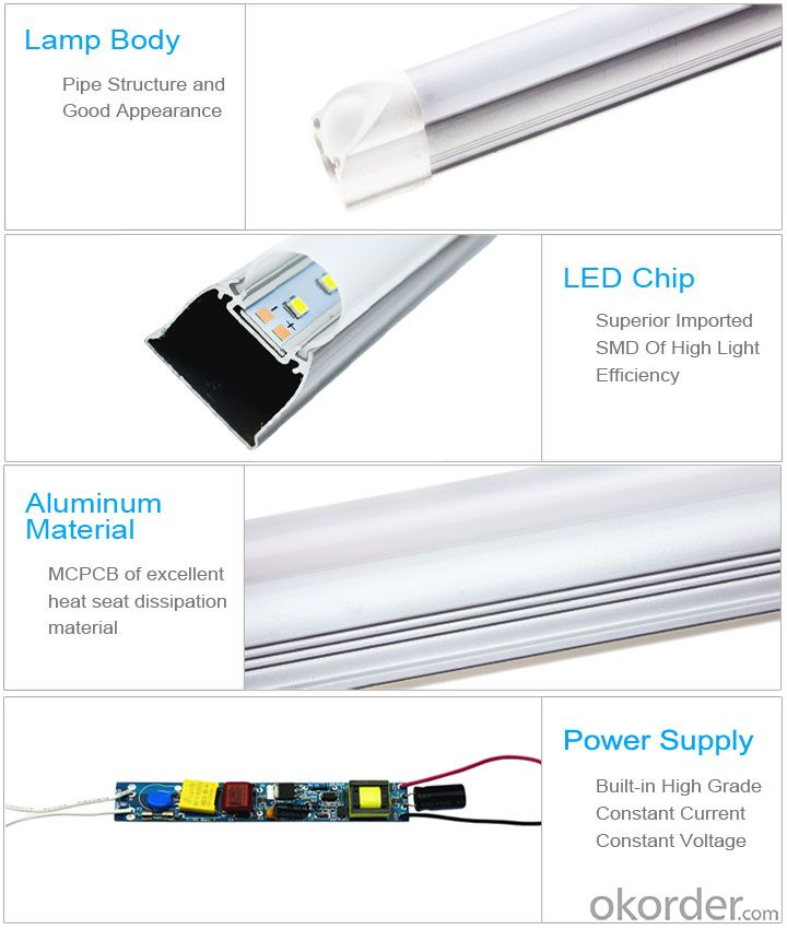Integrated LED Tube Light High Quality Made in China