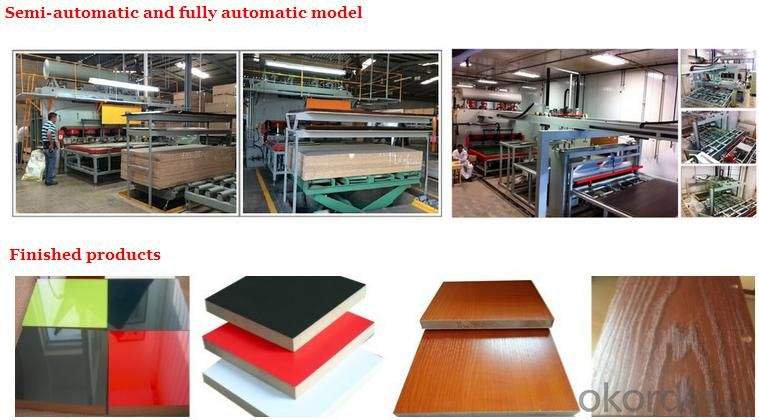 Melamine Hot Press Short Cycle Hydraulic Laminating Machine