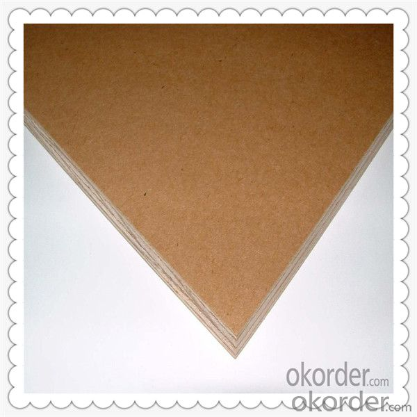 Poplar Veneered Plywood with Okoume Material