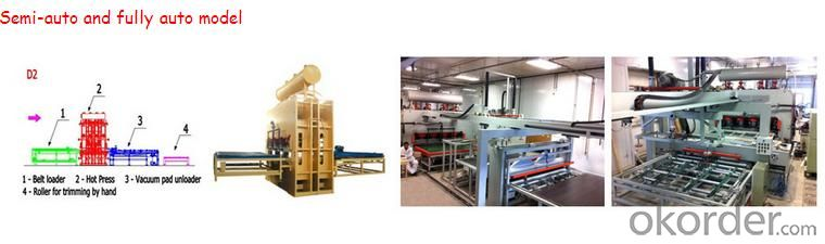 Two Sides Melamine Veneer Laminating Hot Press Machine