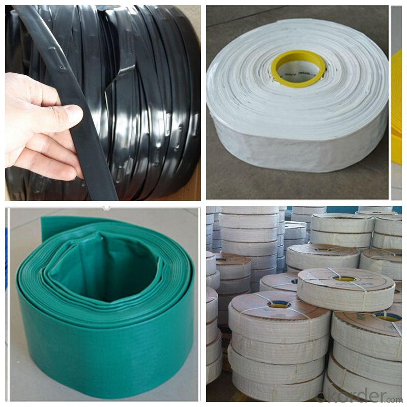 PVC Layflat Water Delivery Pipe  Discharge Hose Pump Irrigation