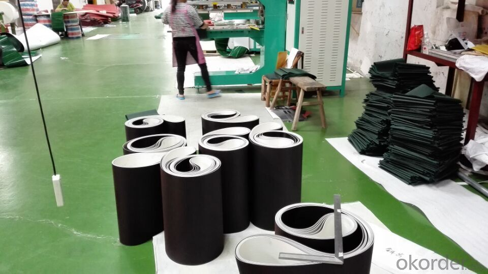 Black PVC Treadmill Conveyor Belt Running Belt for Fitness Gym