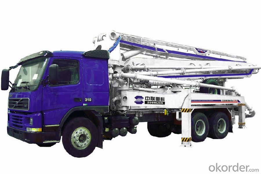 Concrete Pump Truck  8X4 12wheel  4boom