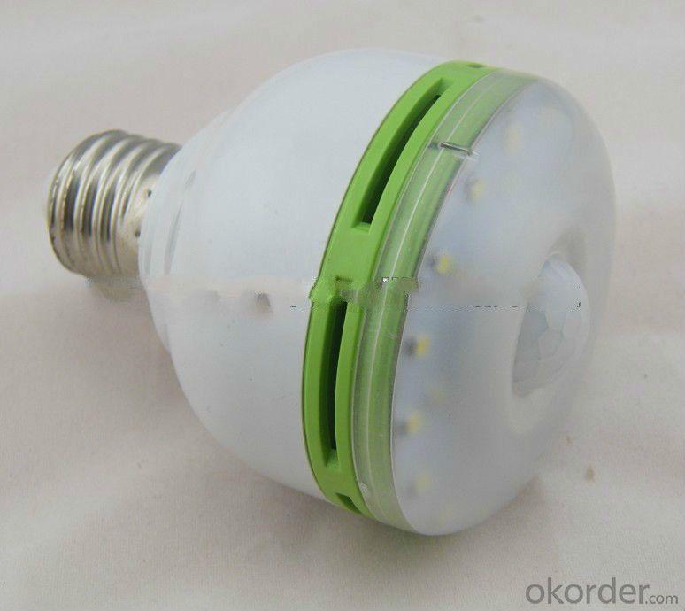 2015 New E27 5W 2835 3528 SMD 29 IR Infrared PIR Motion Sensor LED Bulb Light