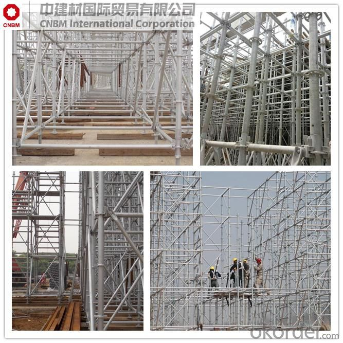 Q235 ringlock scaffoldings application