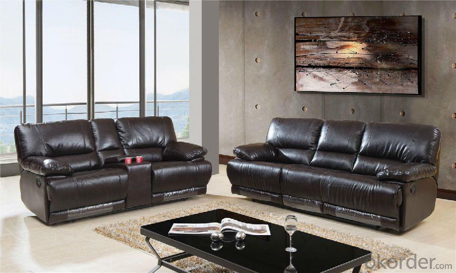 Genuine Leather Recliner Sofa of Modern Design