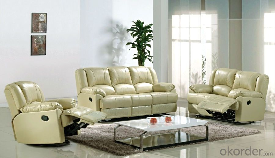 Electrical Recliner Sofa with Natural Leather