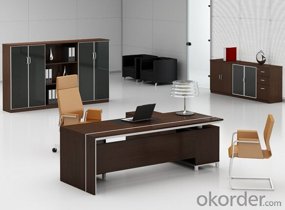 Wooden Executive Desks High End Black Color