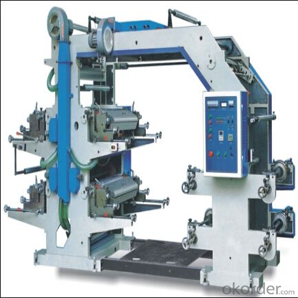 High Speed 4 Colors Plastic PE Film Roll Flexo Printing Machine At Low Price