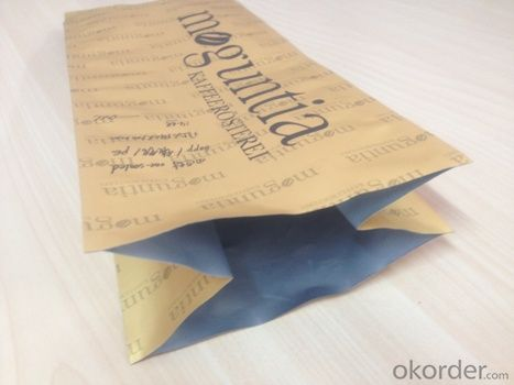 Stand Up Kraft Paper Laminated with PET Film with Square Window for Packing