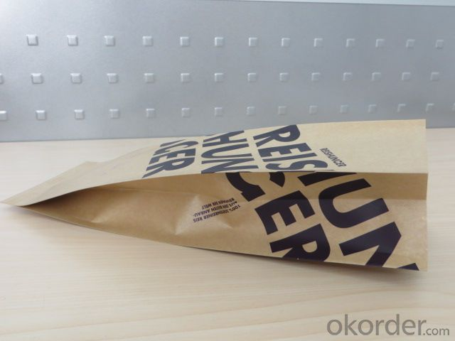 Food Grade Bopp Laminated with Kraft Paper for Packing with Tear Nortch