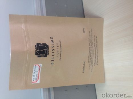 Food Grade Plastic Film Laminated with Brown Kraft Paper for Packing