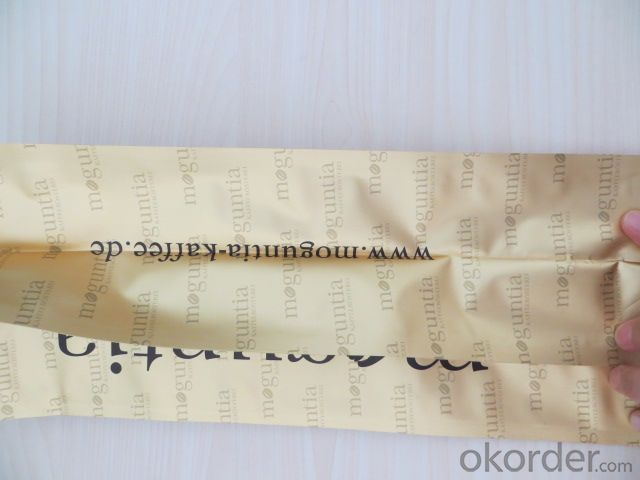 Laminated PE laminated Craft Paper for Coffee Packing with Zipper Closer